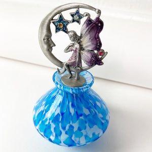 Sedona Boutique Blue Fairy Moon Glass Decanter Jar